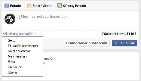 Facebook Segmentar