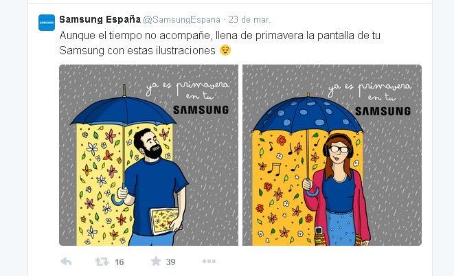 Marketing visual Samsung
