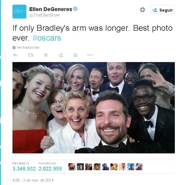 Tweet Ellen Degeneres